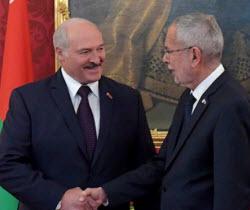 Лукашенко Австрия